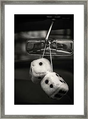 Dice In The Window Framed Print