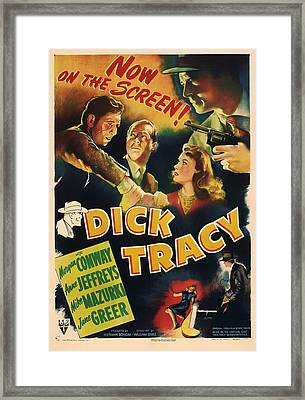 Dick Tracy 1945 Framed Print by Mountain Dreams