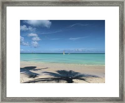 Dickenson Bay Beach - Antigua Framed Print
