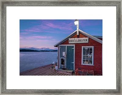 Framed Print featuring the photograph Dicks Lobsters - Crabs Shack In Maine by Ranjay Mitra