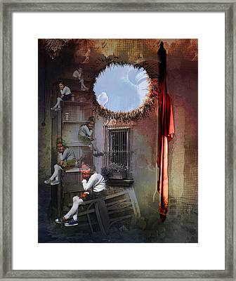 Dictator's Toys Framed Print by Aniko Hencz