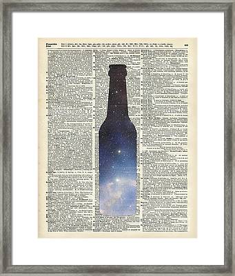Dictionary Art - Magic Beer Framed Print