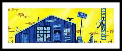 Gas Station Framed Prints