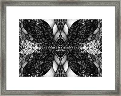 Framed Print featuring the drawing Didgitized Ballpoint Butterfly Effect by Jack Dillhunt