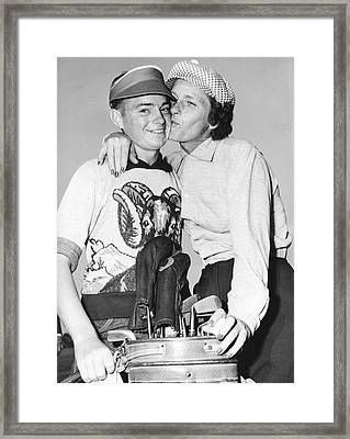 Didrikson Kisses Caddy Framed Print