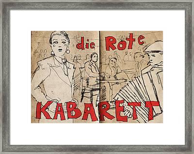 Die Rote Kabarett Framed Print by H James Hoff