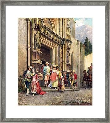 Die Taufe Framed Print