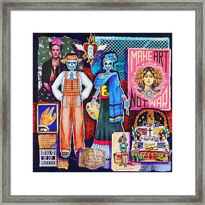 Diego And Frida Framed Print by Candy Mayer