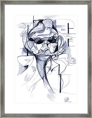 Diego At The Door Framed Print by Nicholas Burningham