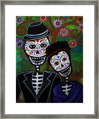 Diego Rivera And Frida Kahlo Framed Print by Pristine Cartera Turkus