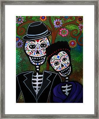 Diego Rivera And Frida Kahlo Framed Print by Pristine Cartera Turkus