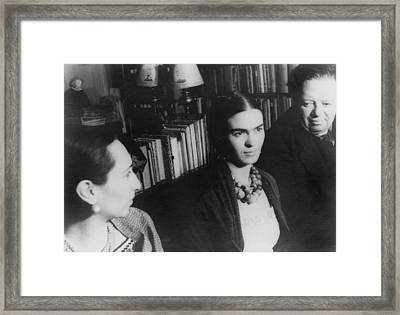 Diego Rivera And His Wife, Frida Kahlo Framed Print