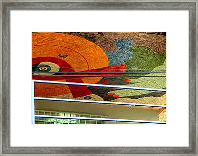 Diego Rivera Mural 10 Framed Print by Randall Weidner