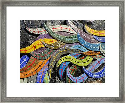 Diego Rivera Mural 6 Framed Print by Randall Weidner