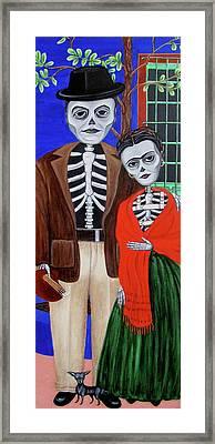 Diego Y Frida Framed Print by Evangelina Portillo