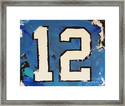 Diehard 12th Man Framed Print
