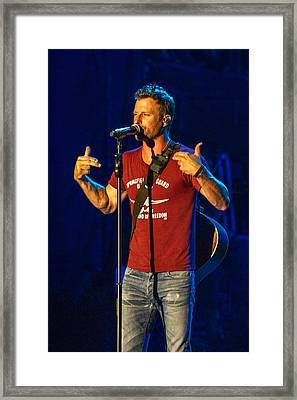 Dierks Bentley Drunk On A Plane Framed Print by Mike Burgquist