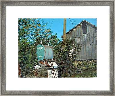 Diesel Fuel Framed Print by William  Brody