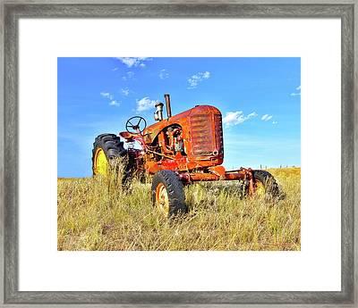 Diesel Red Framed Print