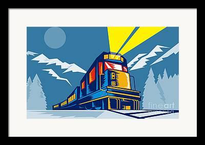Winter Travel Framed Prints
