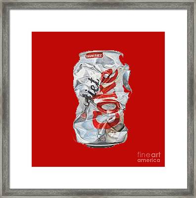 Diet Coke T-shirt Framed Print
