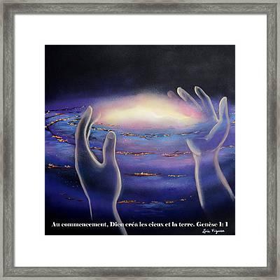 Dieu Crea L'univers Framed Print