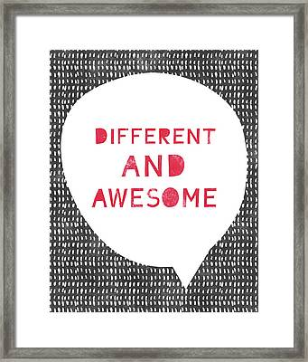 Different And Awesome Red- Art By Linda Woods Framed Print