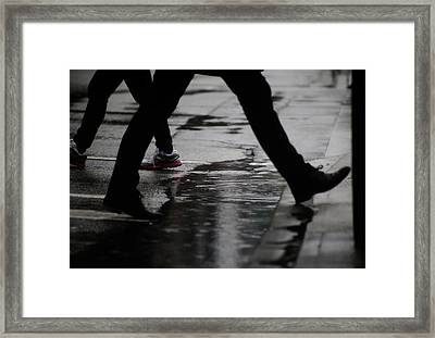 Framed Print featuring the photograph different Directions  by Empty Wall