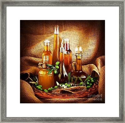 Different Salad Dressings Framed Print