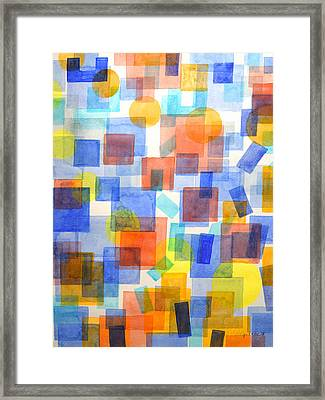Different Things Fall Differently Framed Print