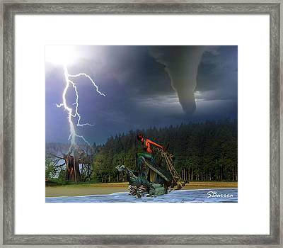 Difficult Situations Framed Print by Solomon Barroa