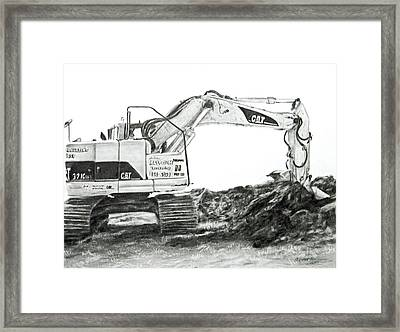 Framed Print featuring the drawing Dig by Meagan  Visser