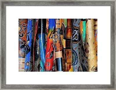 Digeridoos Framed Print by Robert Lacy
