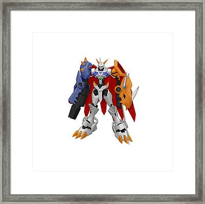 Digimon Framed Print by Rosie Jasmine
