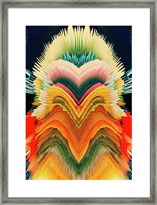 Vivid Eruption Framed Print by Colleen Taylor