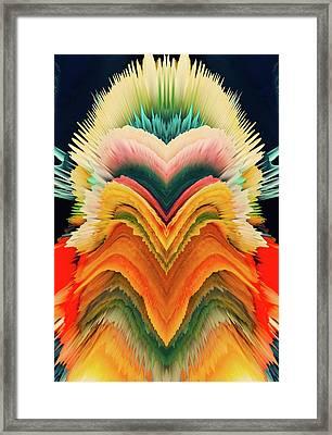 Vivid Eruption Framed Print