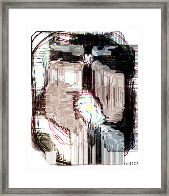 Digital Abstract Expression #001 Framed Print