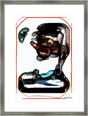 Digital Abstract Expression #004 Framed Print