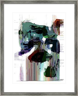 Digital Abstract Expression #009 Framed Print