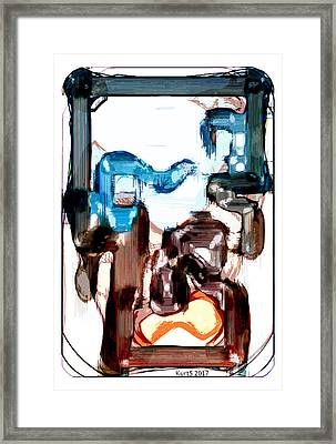 Digital Abstract Expression #012 Framed Print