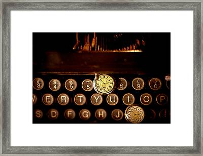 Digital Antiquarian Typewriter Framed Print