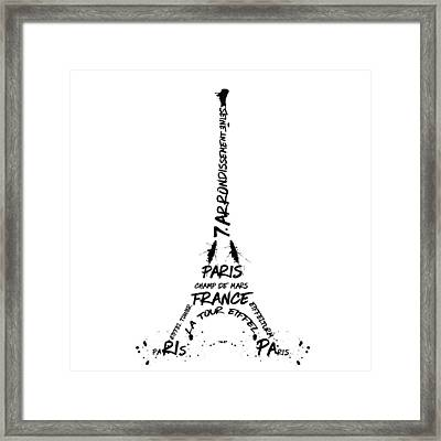 Digital-art Eiffel Tower Framed Print by Melanie Viola