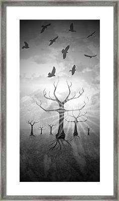Digital-art Fantasy Landscape II Framed Print by Melanie Viola