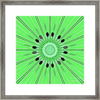 Digital Art Kiwi Framed Print