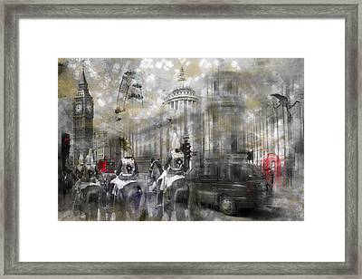 Digital-art London Composing IIi Framed Print by Melanie Viola