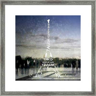 Digital-art Paris Eiffel Tower No.4 Framed Print by Melanie Viola