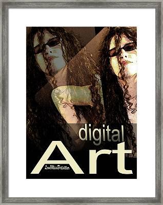 Digital Art Poster Framed Print