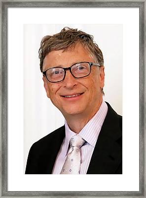 Digital Bill Gates Framed Print