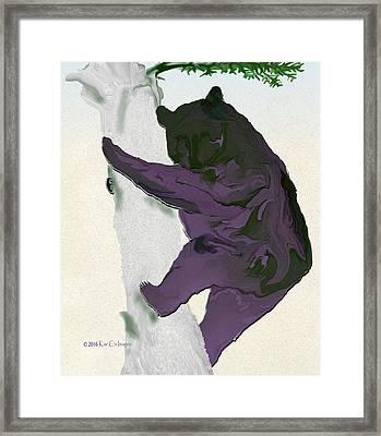 Digital Black Bear Framed Print by Kae Cheatham