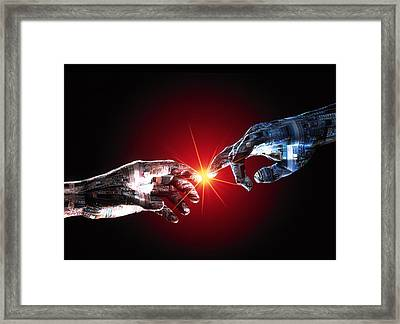 Digital Communications Framed Print by Geoff Tompkinson